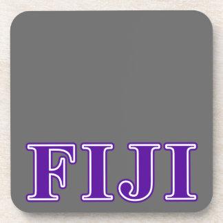 Phi Gamma Delta Purple Letters Coaster