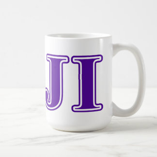 Phi Gamma Delta Purple Letters Coffee Mug