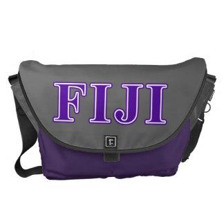 Phi Gamma Delta Purple Letters Courier Bag