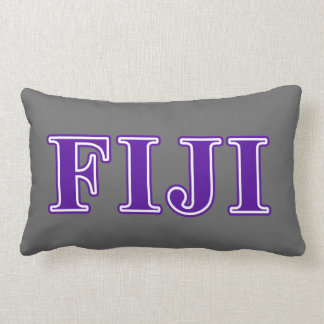 Phi Gamma Delta Purple Letters Lumbar Cushion