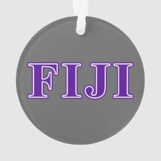 Phi Gamma Delta Purple Letters Ornament