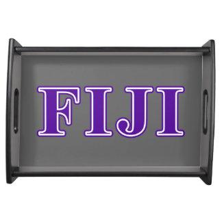 Phi Gamma Delta Purple Letters Serving Tray