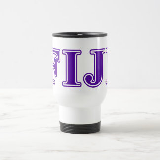 Phi Gamma Delta Purple Letters Travel Mug