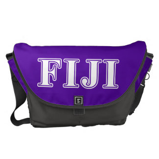Phi Gamma Delta Whie and Purple Letters Commuter Bag
