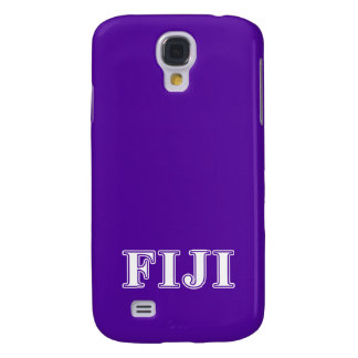 Phi Gamma Delta Whie and Purple Letters Galaxy S4 Case