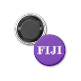 Phi Gamma Delta Whie and Purple Letters Magnet