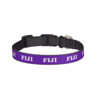 Phi Gamma Delta Whie and Purple Letters Pet Collar