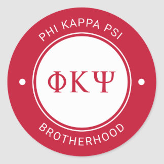 Phi Kappa Psi | Badge Classic Round Sticker