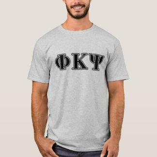 Phi Kappa Psi Black Letters T-Shirt