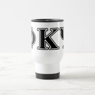Phi Kappa Psi Black Letters Travel Mug