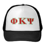 Phi Kappa Psi Red and Green Letters Cap