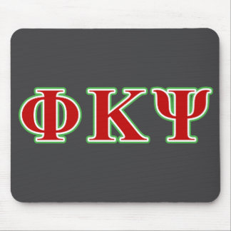 Phi Kappa Psi Red and Green Letters Mouse Mat