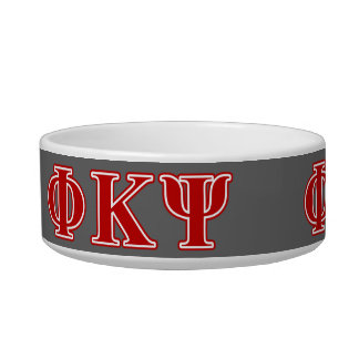 Phi Kappa Psi Red Letters Cat Water Bowls