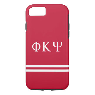 Phi Kappa Psi   Sport Stripe iPhone 8/7 Case