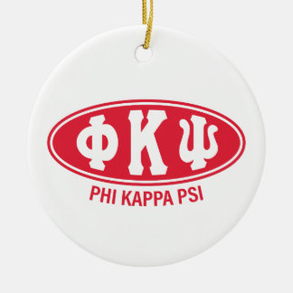 Phi Kappa Psi | Vintage Round Ceramic Decoration