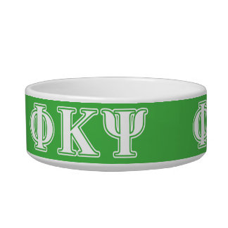 Phi Kappa Psi White and Green Letters Bowl