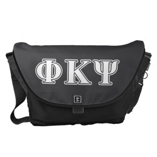 Phi Kappa Psi White Letters Courier Bag