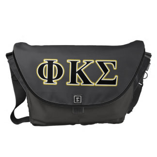 Phi Kappa Sigma Black and Gold Letters Commuter Bags