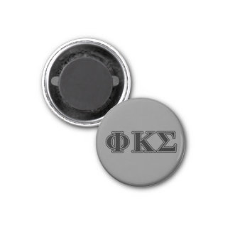 Phi Kappa Sigma Black Letters 2 3 Cm Round Magnet