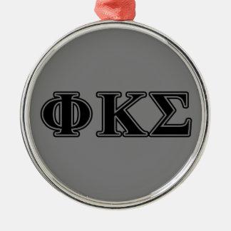 Phi Kappa Sigma Black Letters 2 Christmas Ornament