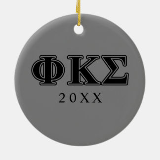 Phi Kappa Sigma Black Letters 2 Christmas Ornament