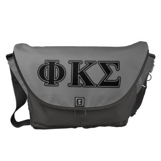 Phi Kappa Sigma Black Letters 2 Messenger Bag