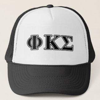 Phi Kappa Sigma Black Letters 2 Trucker Hat