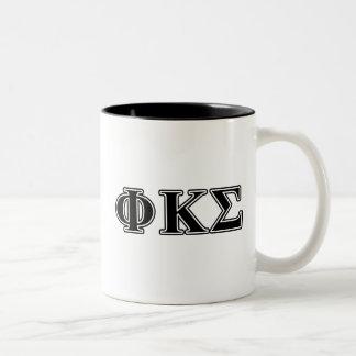 Phi Kappa Sigma Black Letters 2 Two-Tone Coffee Mug
