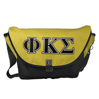 Phi Kappa Sigma Black Letters Messenger Bags