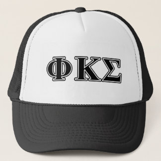Phi Kappa Sigma Black Letters Trucker Hat
