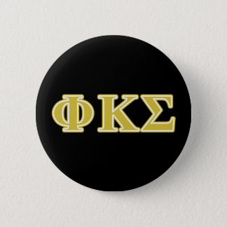 Phi Kappa Sigma Gold Letters 6 Cm Round Badge