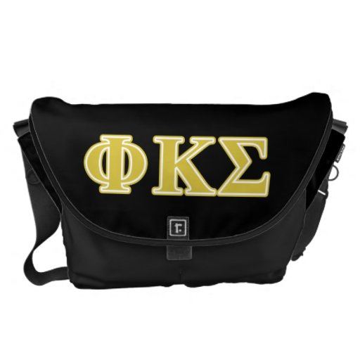Phi Kappa Sigma Gold Letters Courier Bag