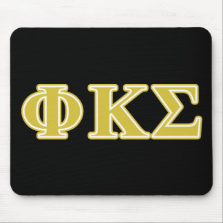 Phi Kappa Sigma Gold Letters Mouse Pad