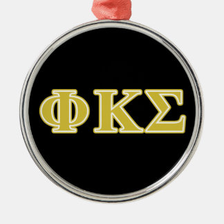 Phi Kappa Sigma Gold Letters Silver-Colored Round Decoration