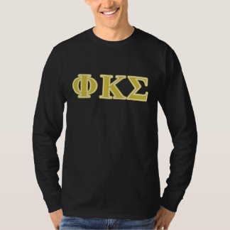 Phi Kappa Sigma Gold Letters T-Shirt