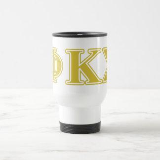 Phi Kappa Sigma Gold Letters Travel Mug