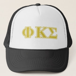 Phi Kappa Sigma Gold Letters Trucker Hat