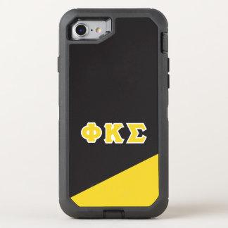 Phi Kappa Sigma   Greek Letters OtterBox Defender iPhone 8/7 Case
