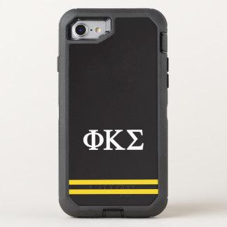 Phi Kappa Sigma   Sport Stripe OtterBox Defender iPhone 8/7 Case
