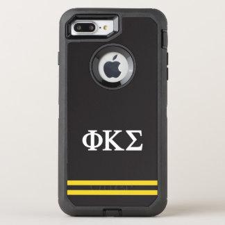 Phi Kappa Sigma | Sport Stripe OtterBox Defender iPhone 8 Plus/7 Plus Case
