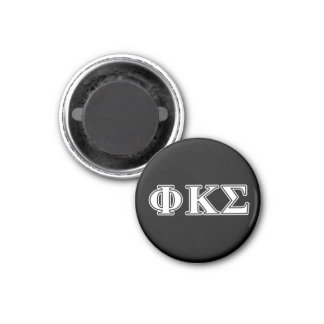 Phi Kappa Sigma White and Black Letters Magnet