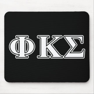 Phi Kappa Sigma White and Black Letters Mouse Mat