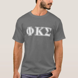 Phi Kappa Sigma White and Gold Letters T-Shirt