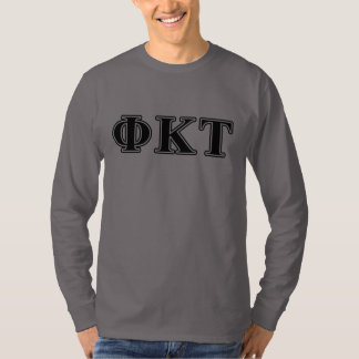 Phi Kappa Tau Black Letters T-Shirt