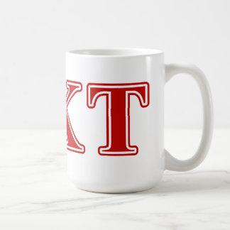 Phi Kappa Tau Red Letters Coffee Mug