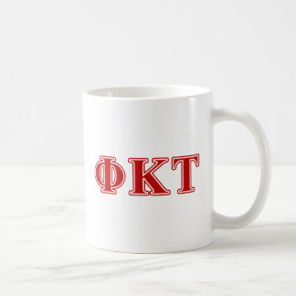 Phi Kappa Tau Red Letters Coffee Mug