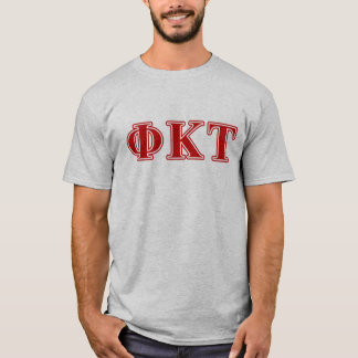 Phi Kappa Tau Red Letters T-Shirt
