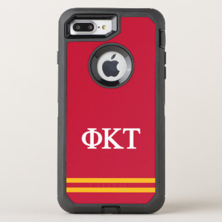 Phi Kappa Tau | Sport Stripe OtterBox Defender iPhone 8 Plus/7 Plus Case