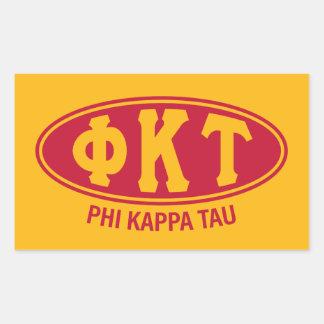 Phi Kappa Tau | Vintage Rectangular Sticker