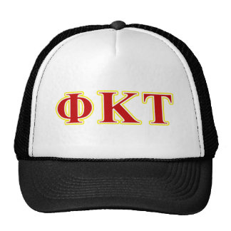 Phi Kappa Tau Yellow and Red Letters Cap